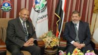 Freedom and Justice Party Receives Ambassador of Comoros in Cairo