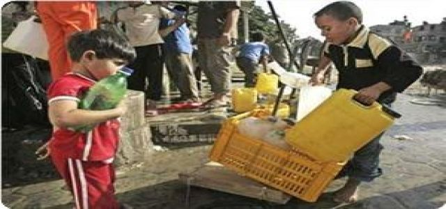 Gaza water corp. warns of water contamination because of lack of disinfectants