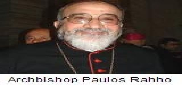 Statement on the Kidnapping of Chaldean Archbishop Paulos Faraj Rahho in Mosul