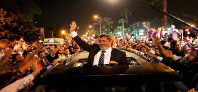 Freedom and Justice Party Congratulates Mohamed Morsi on Winning Presidential Elections