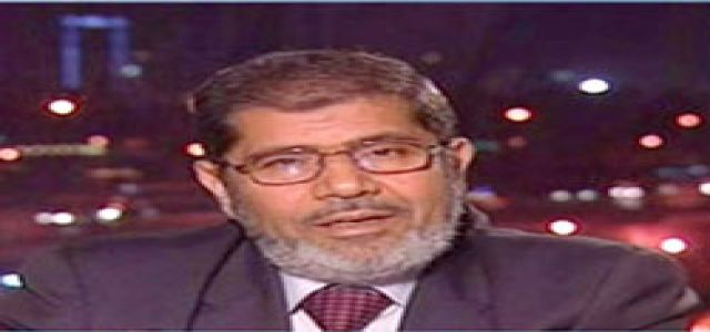 Morsi, Al Erian released, put under house arrest