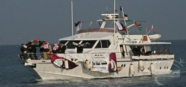 Freedom Flotilla ships sail together for Gaza on Thursday
