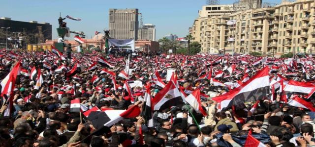 Dr. Morsi: Egyptian Revolution Will Continue Until Former Regime Officials Banned