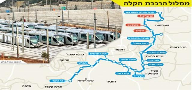 IOA resumes work on Jerusalem light rail project