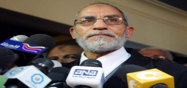 Badie Calls On Egyptians to Practice Constitutional Right and Choose Their Representatives